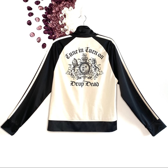 Juicy Couture Jackets & Blazers - Juicy 90s Black & White Graphic Track Jacket